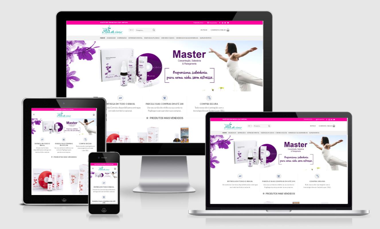 Desenvolvi Desenvolvimento Web Sites Loja Terapia Flor de Íris Rio Grande do Sul