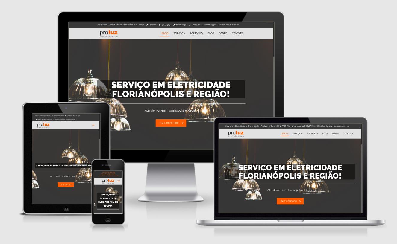 Desenvolvi Desenvolvimento Web Sites Proluz Eletrotécnica