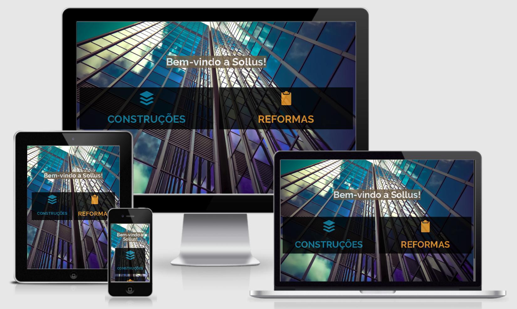 Desenvolvi Desenvolvimento Web Sollus Construções e Reformas SC