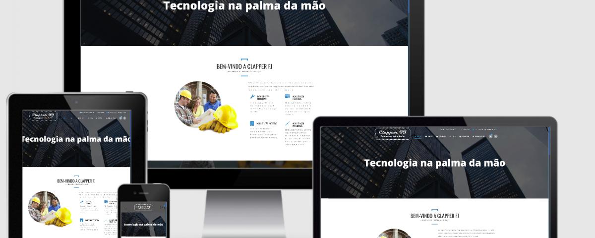 Desenvolvi Desenvolvimento Web Clapper FJ Tecnologia na palma da mão