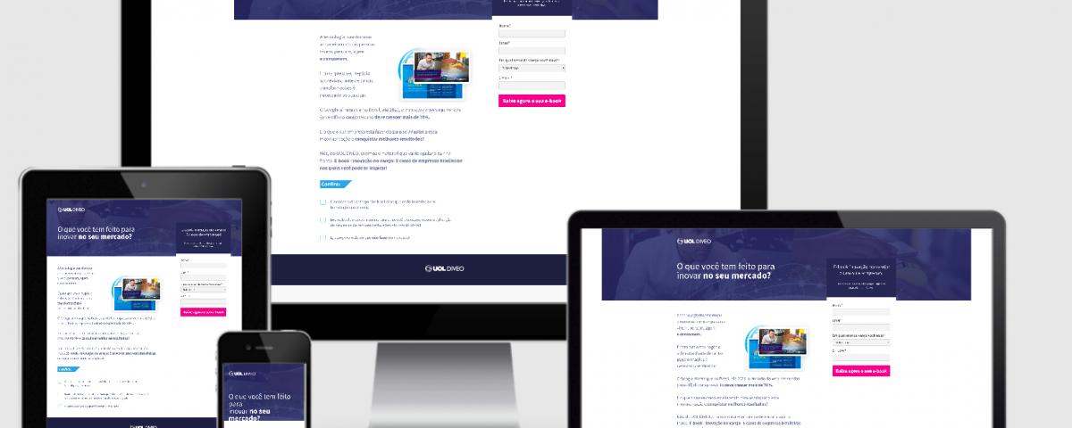 Desenvolvi Desenvolvimento Web Landing Page Uol Diveo E-book Mercado