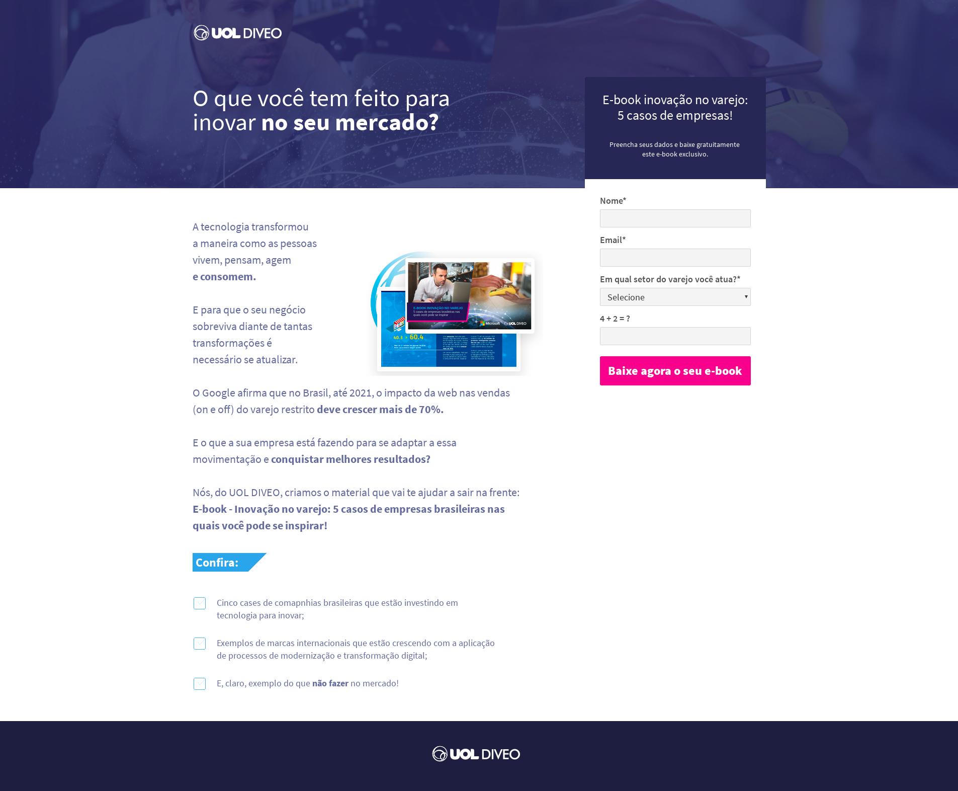 Desenvolvi Desenvolvimento Web Landing Page Uol Diveo E-book