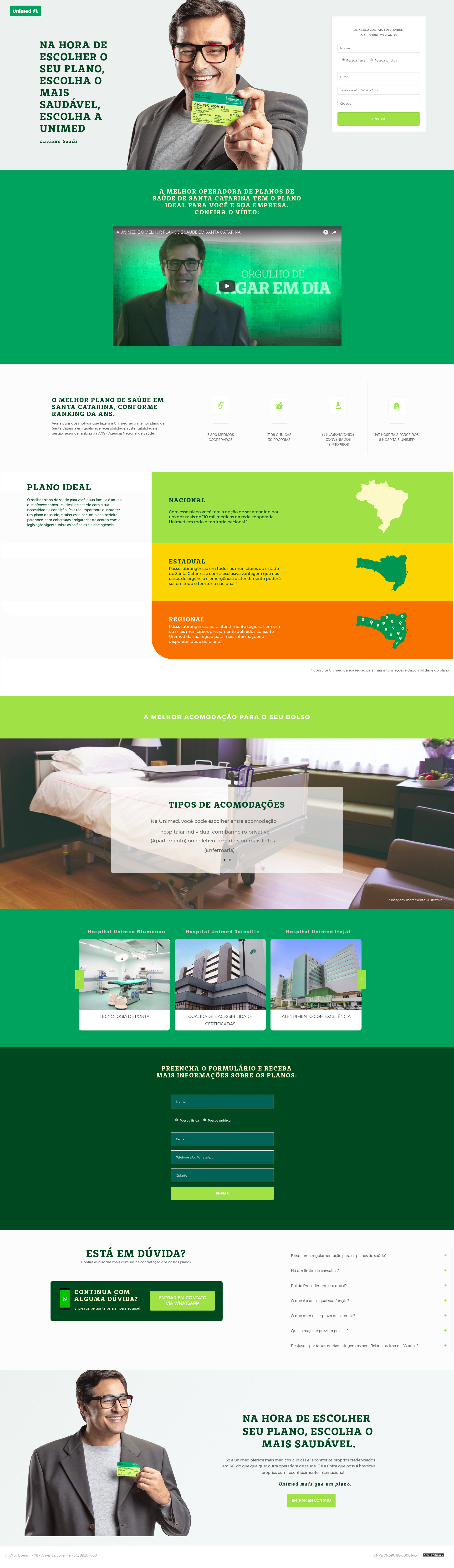 Desenvolvi Desenvolvimento Web Unimed Mais Que Um Plano Landing Page