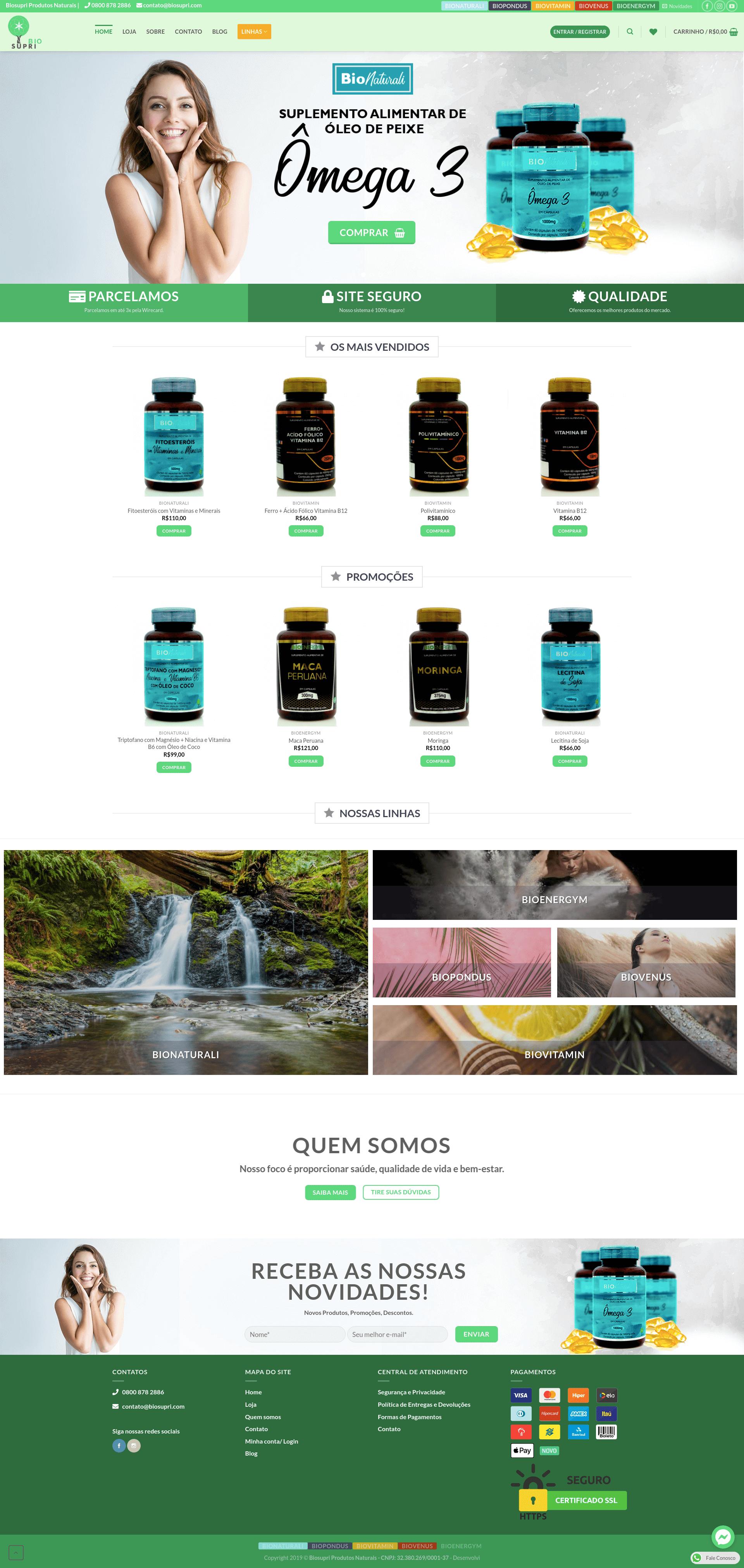 BioSupri Produtos Naturais E-commerce Ômega 3