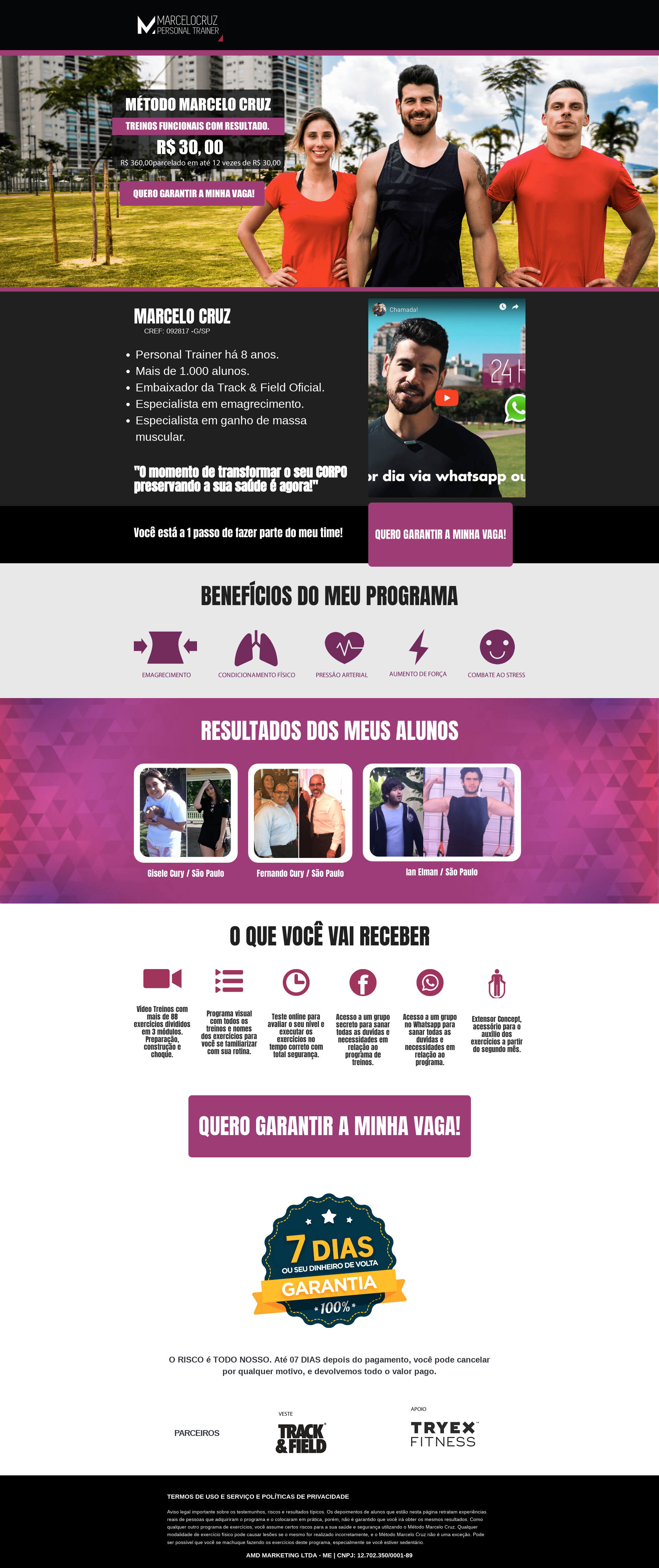 Desenvolvi Desenvolvimento Web Método Marcelo Cruz Landing Page Fitness