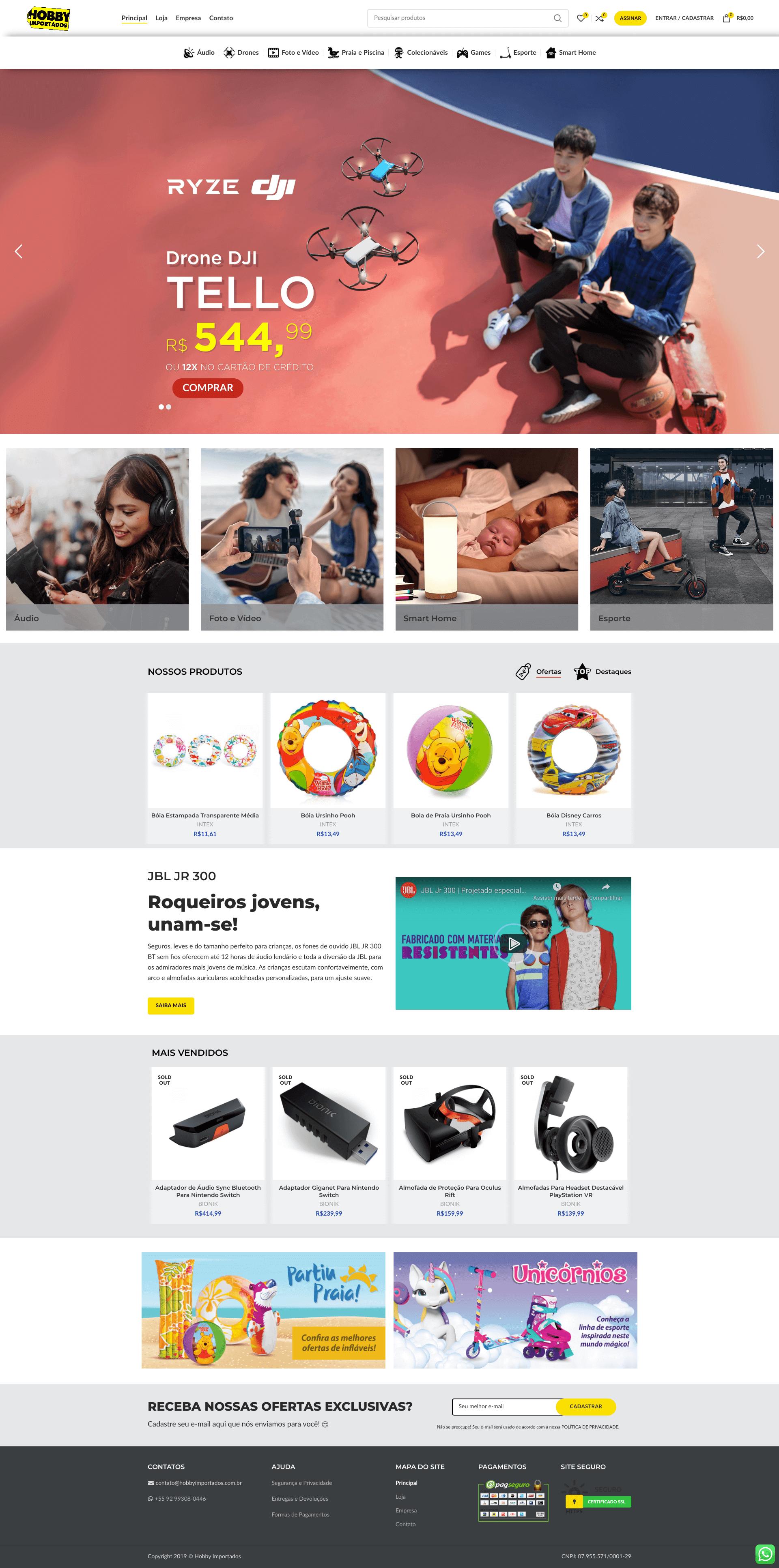 Hobby Importados E-commerce